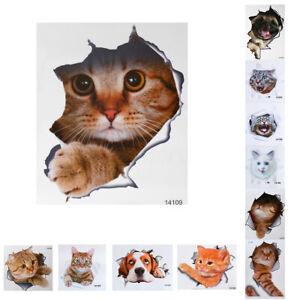 3D-Cute-Cat-Vinyl-Home-Room-Decor-Art-Wall-Decal-Sticker-Bedroom-Removable