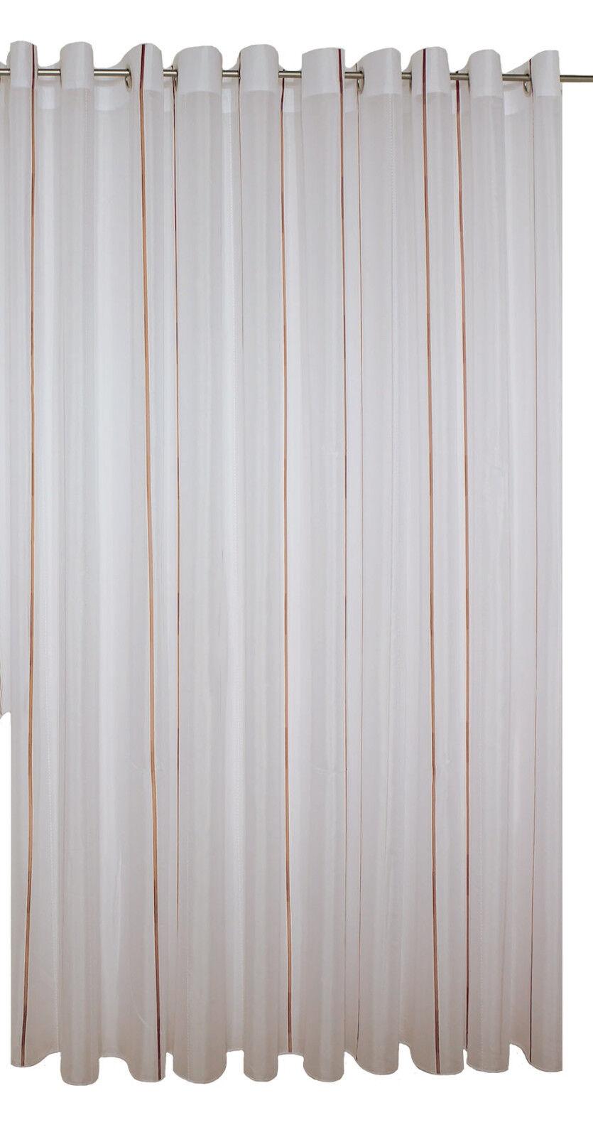 Fertigstores Amilia 3094-50 Farbe terracotta auf Ösen Ösen Ösen halbtransparent  16 Größen 9785a4