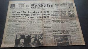JOURNAL-LE-MATIN-DIMANCHE-29-DECEMBRE-1940-N-20-730-ABE