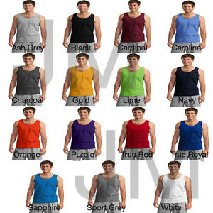 Gildan-2200-Men-039-s-Ultra-Cotton-Tank-Sleeveless-Muscle-Tee-T-Shirt-Top-New