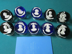 BACCARAT-COLLECTION-OF-10-CRYSTAL-PAPERWEIGHTS-FRANKLIN-MINT-WITH-STAND-2-X-3-034