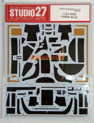 Studio27 CD24026 1//24 787B Carbon Decal Tamiya Fujimi Hasegawa MFH 24112 24326