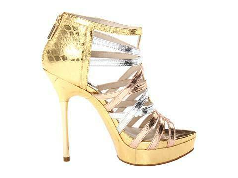 03638299f865 Michael Kors 9 M Maddie Rose Gold Leather Platforms Womens Shoes HEELS for sale  online