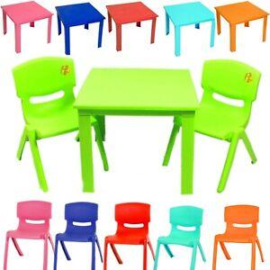 Détails sur Enfants et chaises en plastique Tableau Pépinière Jardin Jeux  de plein air staudy Table- afficher le titre d\'origine