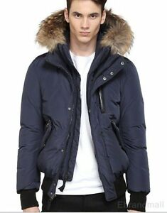 Image is loading Mackage-100-Authentic-HARVEY-Navy-DOWN-BOMBER-JACKET-