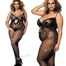 Rejilla Mujer Body de cuerpo entero Encaje Pijama Lencería Plus+ UK18 20 22 24