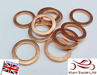 10 x 14MM COPPER SEALING SUMP PLUG BANJO BOLT SEAL WASHERS  O.D 22mm KW138