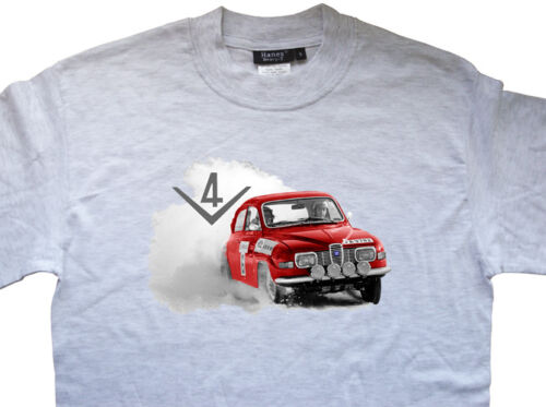 ALL OPTIONS SAAB 96 V4 Rally T-shirt T shirt Stig Blomqvist Per Eklund