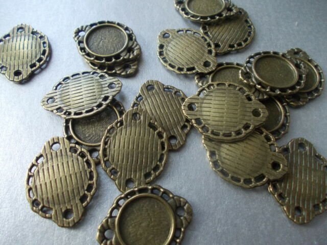 10MM TRAY,CABOCHON MOUNT,CONNECTOR SETTING, SILVER, GOLD, BRONZE,COLOUR,(CM1)