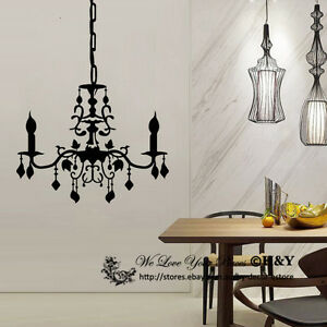 Chandelier removable wall stickers vinyl wall decals art mural home image is loading chandelier removable wall stickers vinyl wall decals art aloadofball Choice Image