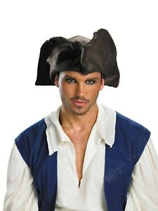 Image is loading ADULT-PIRATE-JACK-SPARROW-TRICORN-HAT-COSTUME-ACCESSORY-  sc 1 st  eBay : tricorn hat costume  - Germanpascual.Com