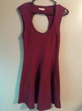 SILENCE + NOISE Urban Outfitters/Anthropologie Dress Size M Cut Out Burgundy A53