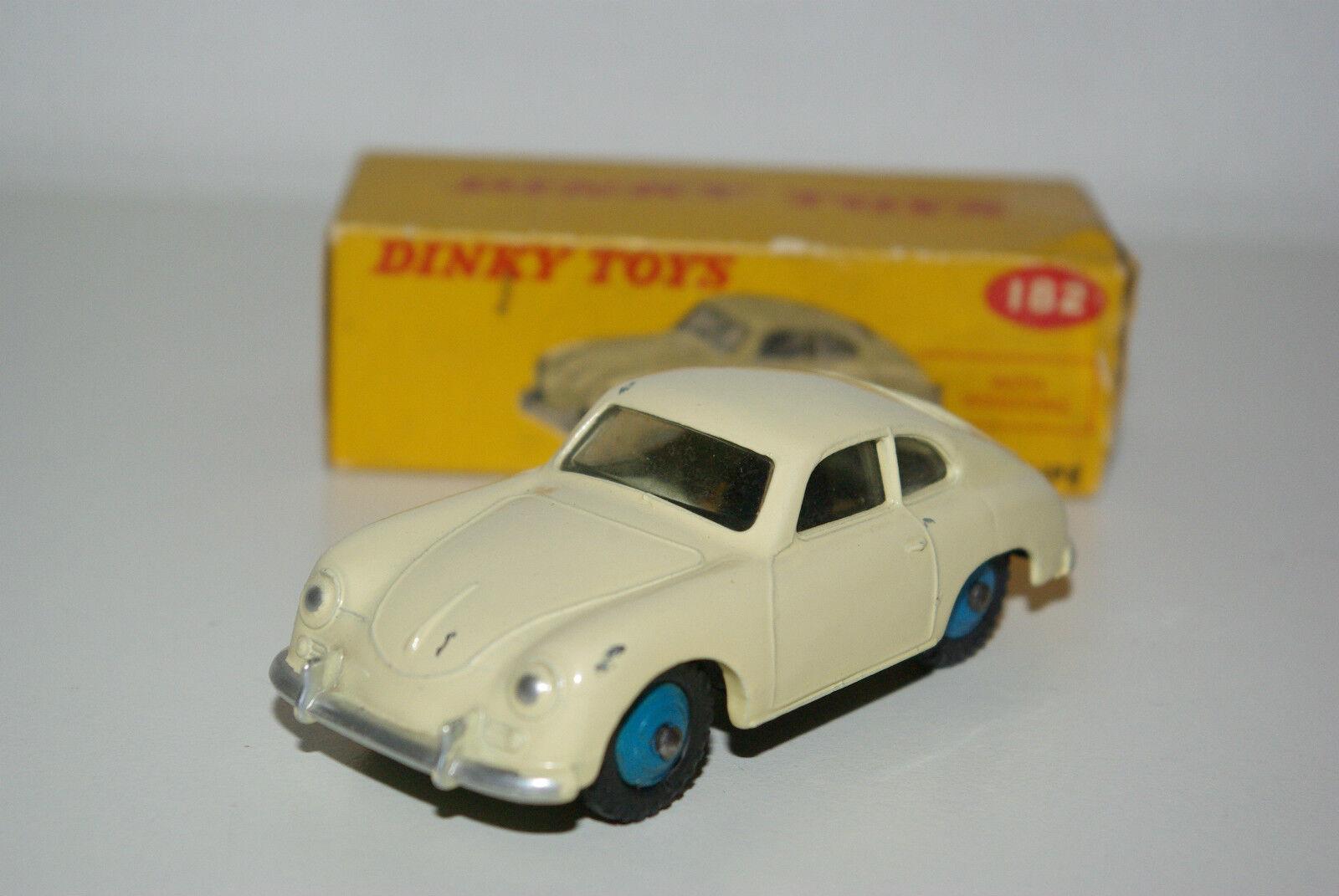 P DINKY TOYS 182 PORSCHE 356 a COUPE Cream NEAR MINT BOXED RARE RARO RARO