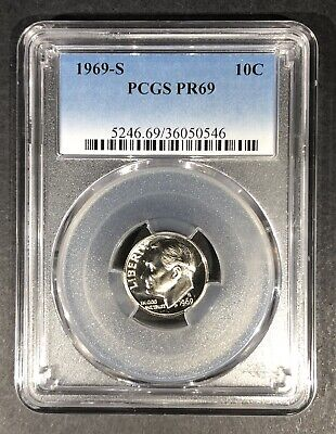 Get $5 Off!! 1968-S Proof Roosevelt Dime PCGS PR-68 Buy 3 Items
