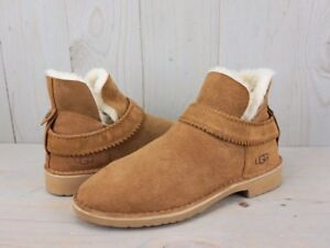 93a1c653b75 Details about UGG MCKAY CHESTNUT SUEDE SHEEPSKIN WOMENS ANKLE BOOTS US 10.5  new
