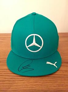 Image is loading Mercedes-AMG-Petronas-F1-Cap-Signed-By-Lewis- f027f192eb3