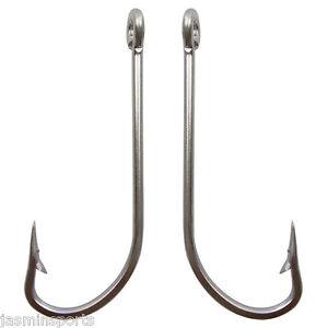 30pcs O/'shaughnessy Fishing Hook Long Shank Saltwater Stainless Steel Hook