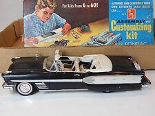 Vintage Built AMT 1958 Pontiac Bonneville Convertible with box & parts