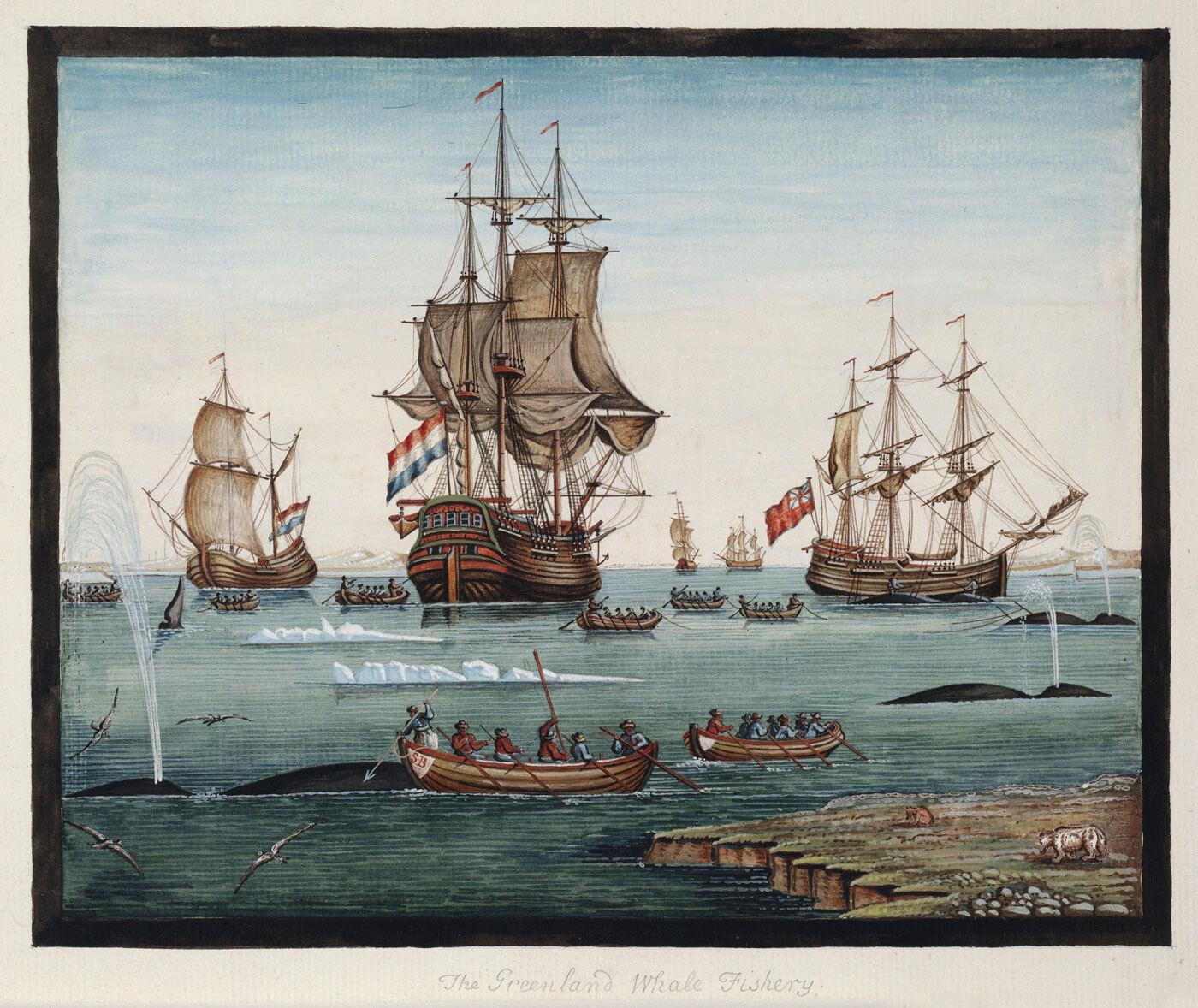 Sigismund Bacstrom    Grünland Whale Fishery  (c.1790s) — Giclee Fine Art Print