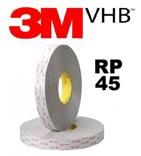 3M VHB 12mm Wide 1.1mm Thick Double Sided RP45 Tape 3 Metres