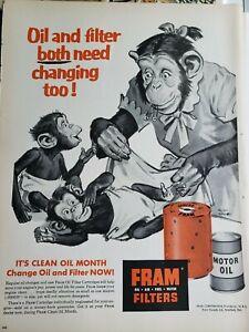Lot of 3 Vintage 1956 Fram Oil Filters Art by Kieth Ward