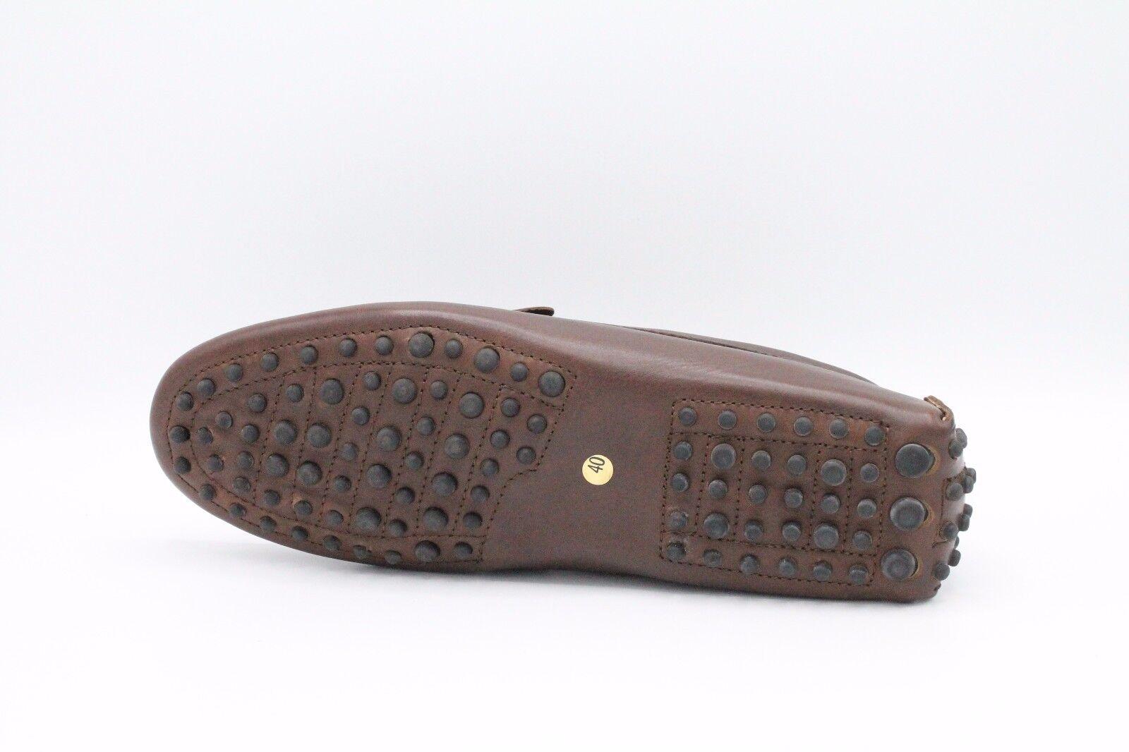 Baps/01 Mokassins Leder Herren Handwerk made in italy eine Sohle gommino GENÄHT