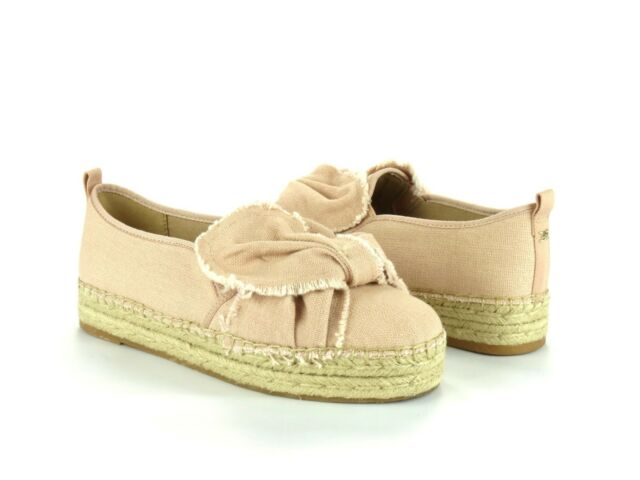 4445c8144 Sam Edelman Cabrera Platform Espadrille Light Shell Pink Canvas Slip On  Flat 10