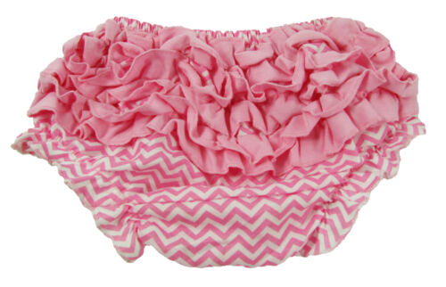 Light Pink Chevron Diaper Cover with Ruffles