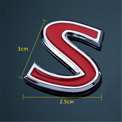 UP S Logo For Infiniti Q50 Q50S Sport Red Car Sticker Cover Emblem Badge 2014