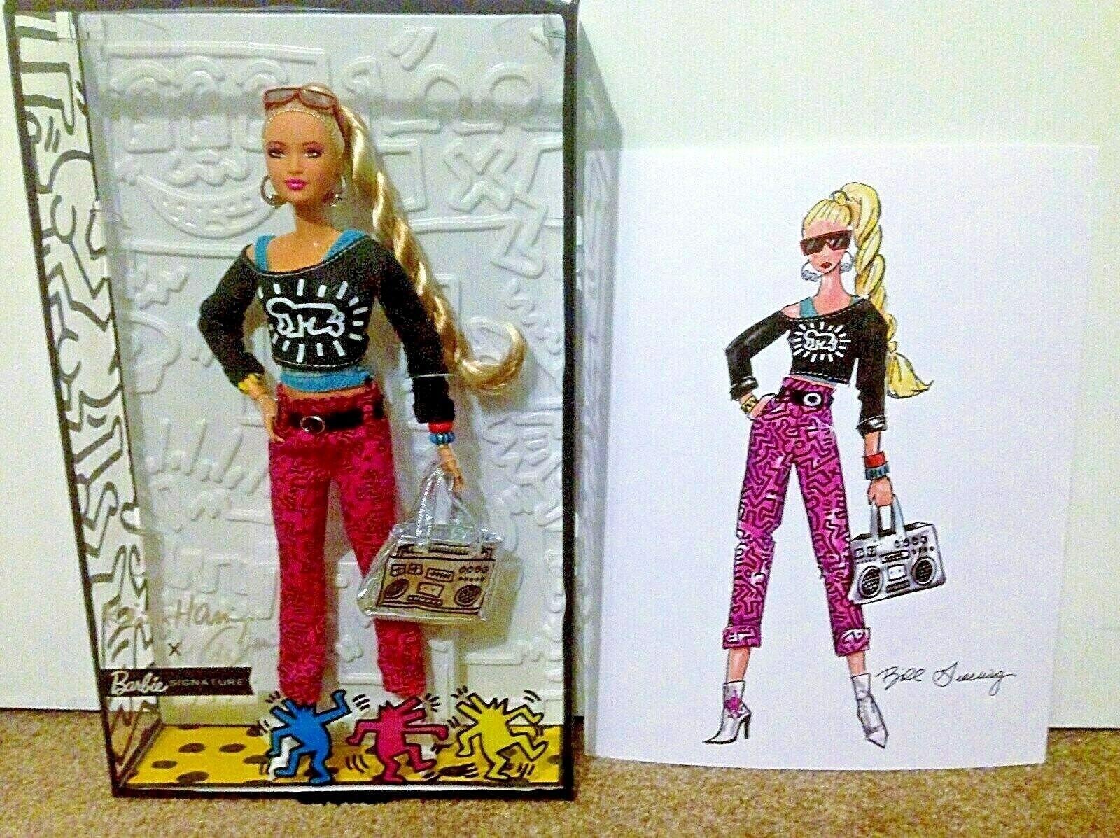 Keith Haring X Barbie Edición Limitada 'radiante Bebé detalle con Bono Sketch