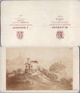 Autriche-Osterreich-Paysage-de-lac-et-montagne-a-identifier-d-039-apres-grav