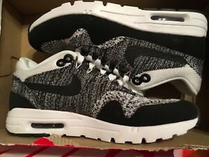 Details about New Nike AIR MAX 1 ULTRA FLYKNIT shoes 843387 100 WHITEBLACK sz 5 Womens