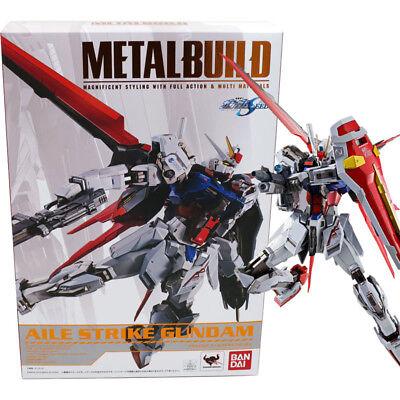 Bandai Metal Build Gundam Seed Gat-x105+aqm/e-x01 Aile Strike Gundam Figure Making Things Convenient For The People Action Figures Anime & Manga