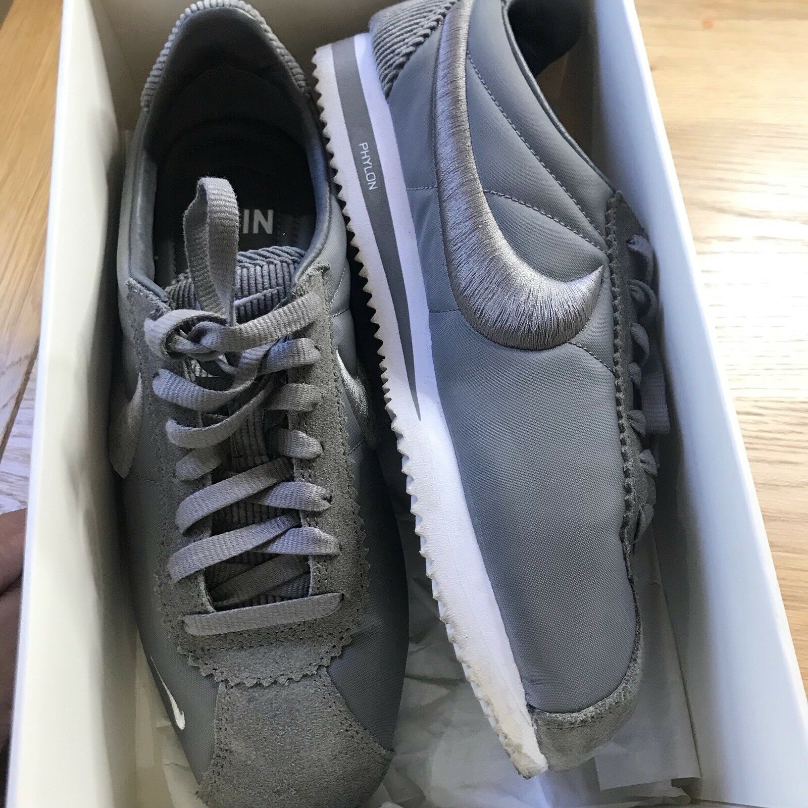 Nike classic Cortez SP, Canyon Grey and White. UK Comfortable Comfortable and good-looking