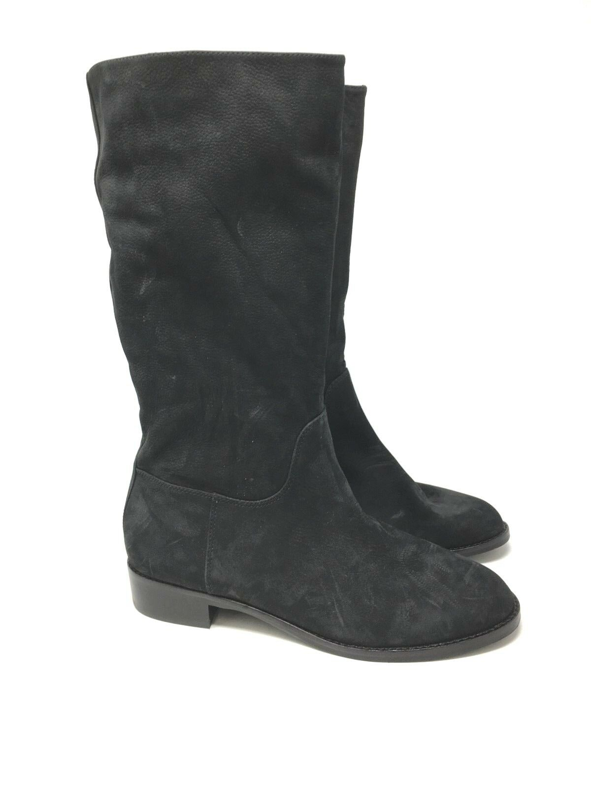 New New New Via Spiga Jules Boot Women Round Toe Leather Mid Calf Boots Size 7.5 93da89