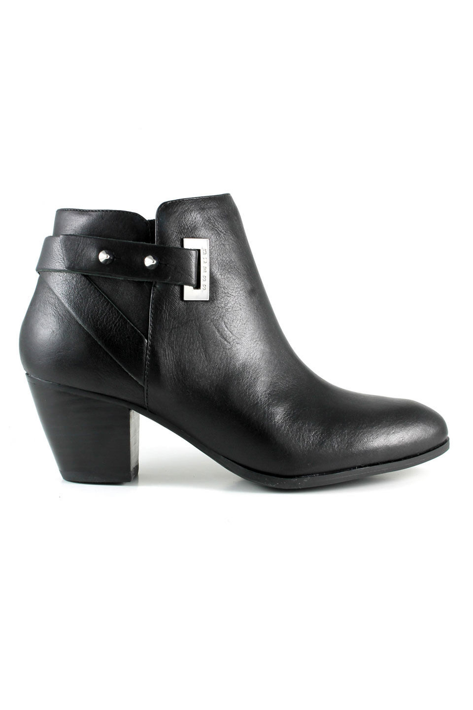 GUESS Black Leather Verity Bootie, US 9.5