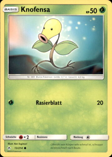 Knofensa Kräfte im Einklang Pokemon 13//214