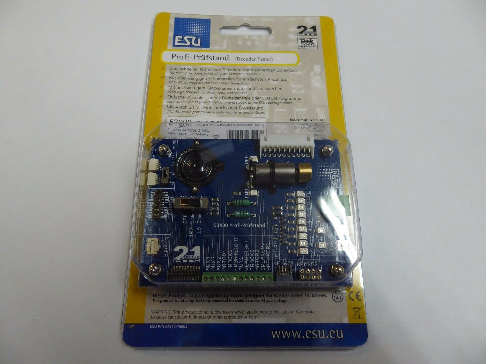 ESU 53900 Profi-Prüfstand für Decoder,NEM652,651,21MTC,PluX22 NEU - OVP OVP OVP    Verrückter Preis  93cb64