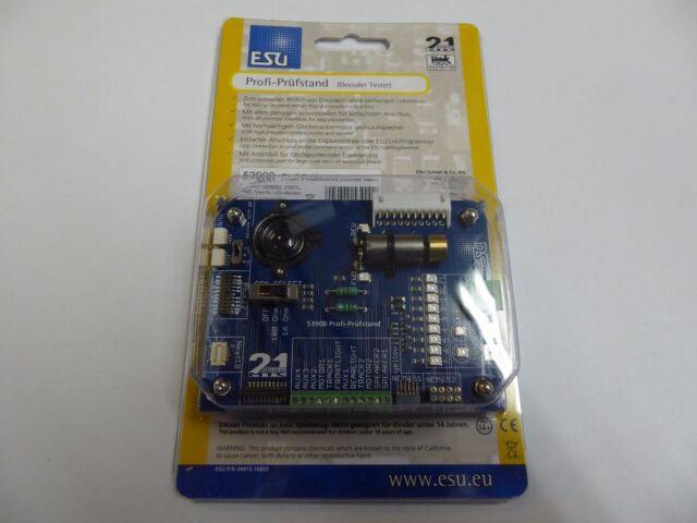 ESU 53900 Profi-Prüfstand für Decoder,NEM652,651,21MTC,PluX22 NEU - OVP