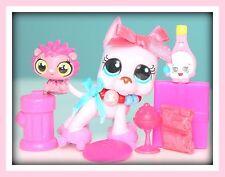 ❤️RARE Littlest Pet Shop LPS Pink Great Dane #1022 ~ ROSA Accessories DOG LOT❤️