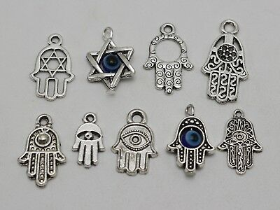 "25 /""Star of David/"" EVIL EYE Kabbalah Charm Pendants"