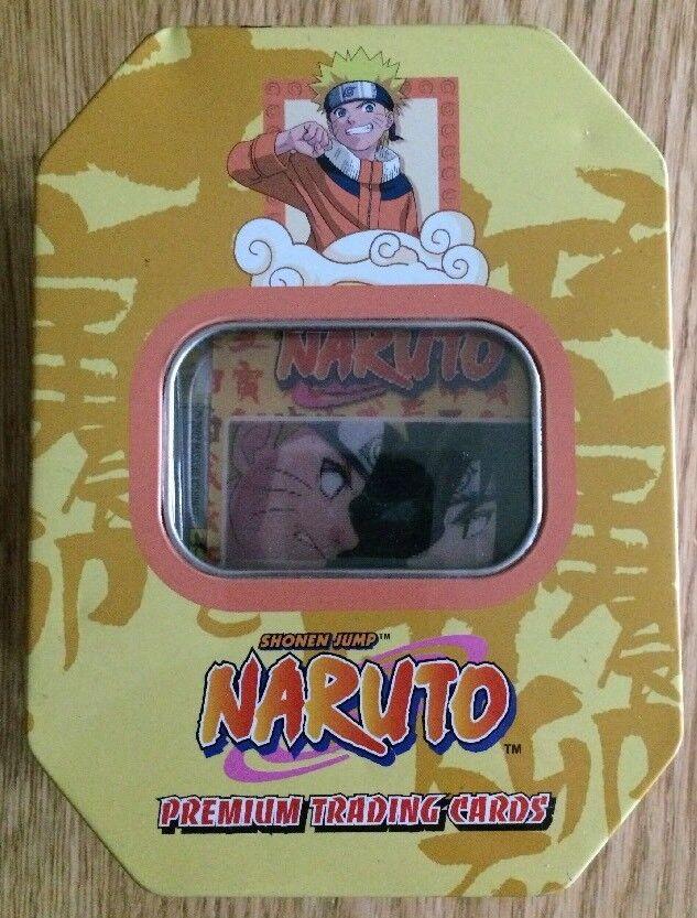 Panini 72 Shonen Jump Naruto Premium Trading Cards & Collectible Tin (2002)