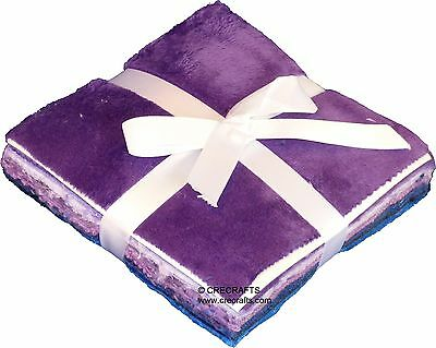 Ultra Violet Minky Fabric 5 Inch Cuddle Charm Pack from Shannon Fabrics