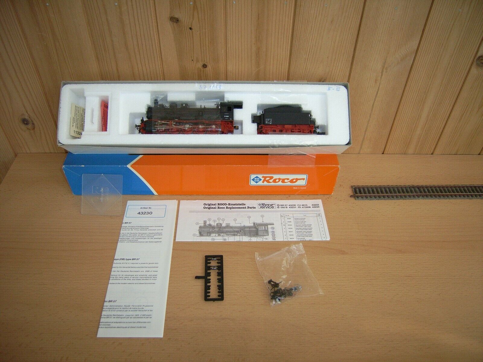 Roco ho 43230  schlepptender-máquina de vapor 57 1058 DRG EP. II; OVP, ersatzteilbl., Inst.