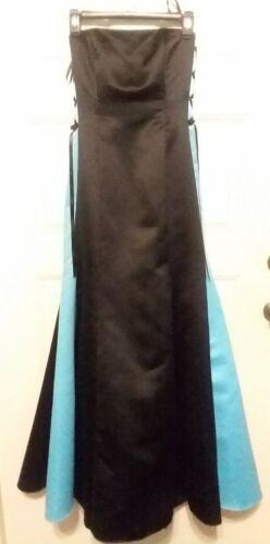 Gunne Sax Jessica McClintock strapless Black blue