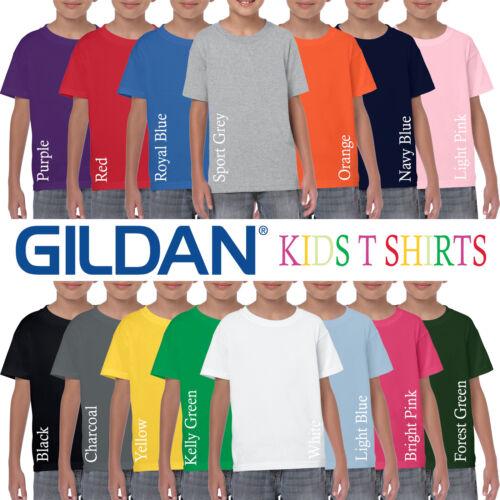 Gildan HEAVY Cotton Plain Childrens T Shirt Wholesale Supplier Boys T-Shirt