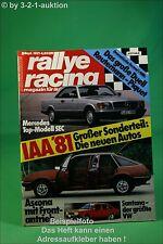 Rallye Racing 9/81 Opel Ascona DB SEC VW Santana