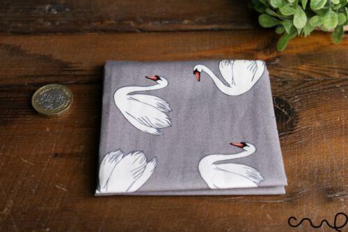 Fait Main 100/% Coton Unisexe Poche Carré Mouchoir Swan cadeau de mariage gris U