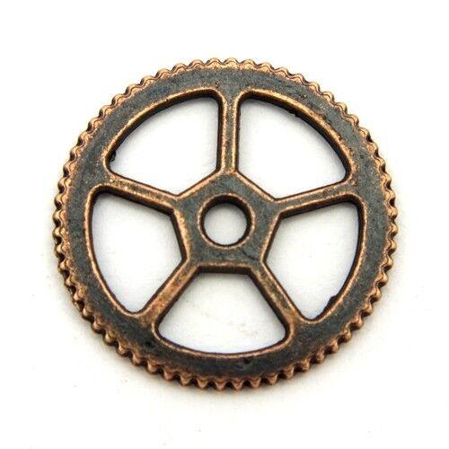 18x1mm kupferfarben 1 Steampunk Zahnrad Charles ca
