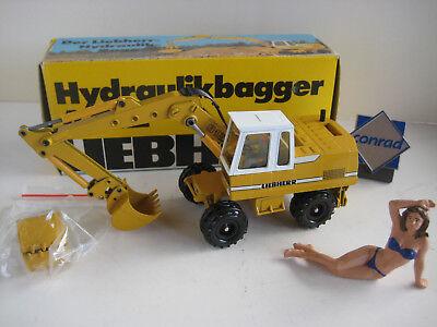 Liebherr A 912 Escavatore Gancio & Profondamente Cucchiaio Mobil #2822.2 Conrad 1:50 Ovp-mostra Il Titolo Originale Aiutare A Digerire Cibi Grassi